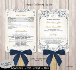 wedding program fans images  pinterest fan