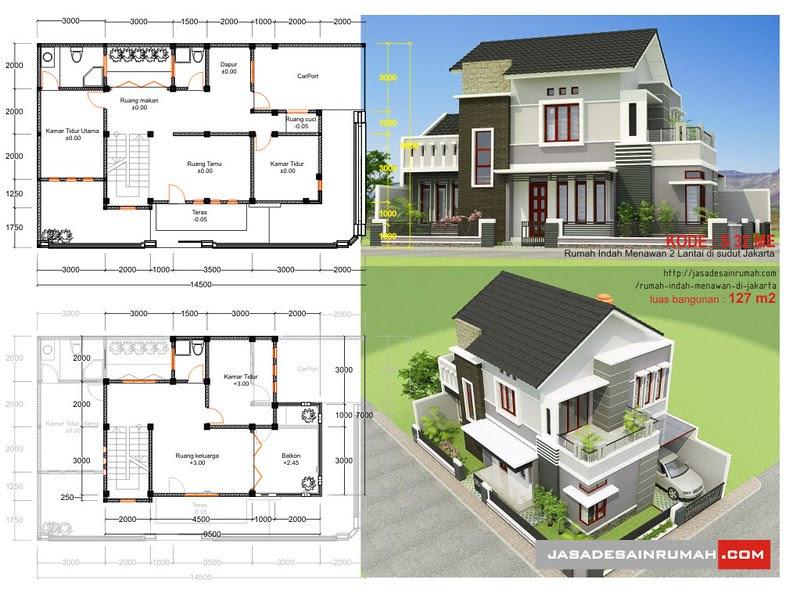 Rumah Indah Menawan 2 Lantai Di Sudut Jakarta Jasa Desain Rumah