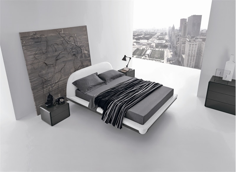 Minimalist Bed For Modern Bedroom – Fusion By Presotto  DigsDigs