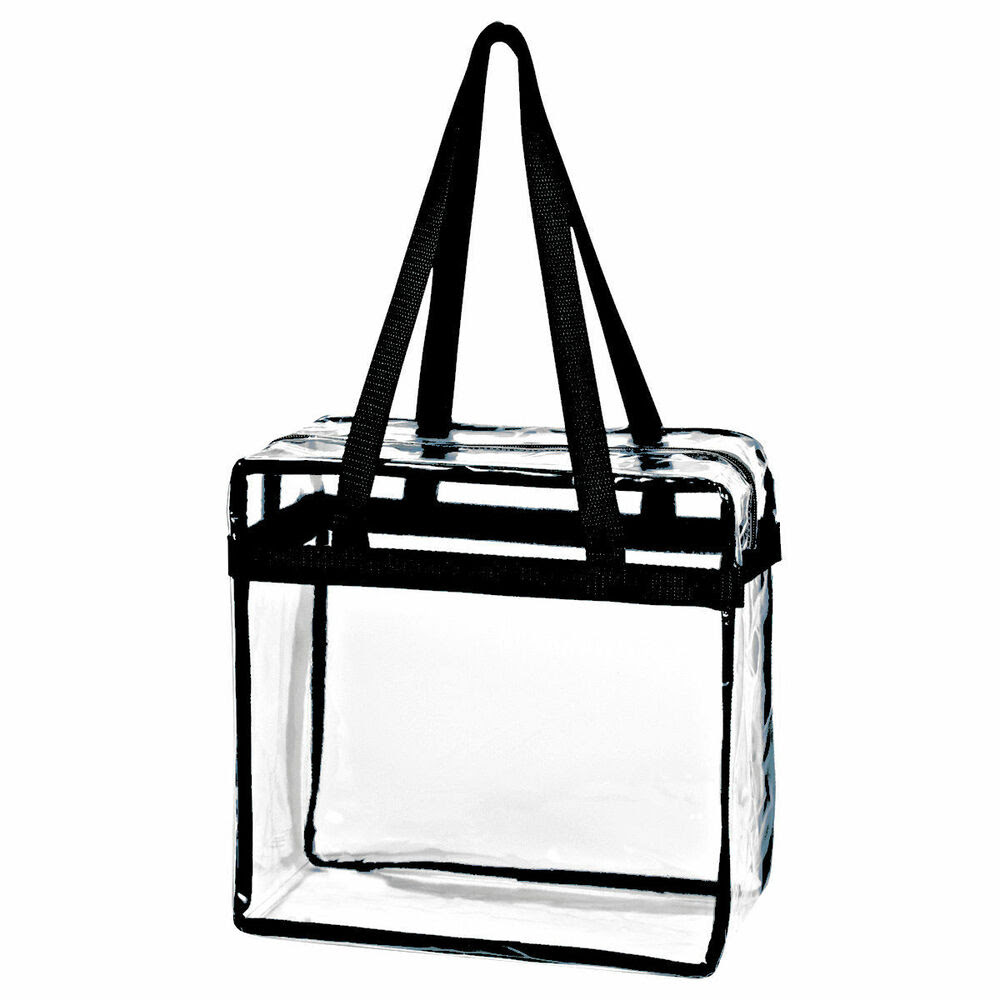 clear tote bag zipper NFL stadium approved 12 x 12 x 6  eBay