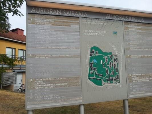 Auroran Sairaala Kartta