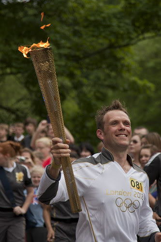 Olympic torch, Ironbridge, Shropshire #081 Lyndon Flavell