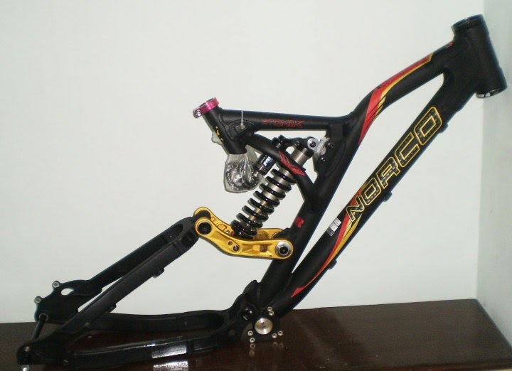 Frame NORCO Atomik with rear shock FOX DHX 3.0 Air Harga