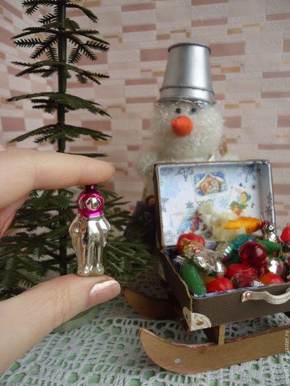 Винтажные куклы и игрушки. Ярмарка Мастеров - ручная работа. Купить Мини - елочка № 2 с игрушками СССР (винтаж). Handmade.