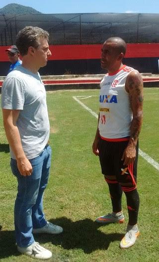 Luciano Huck e Emerson Sheik Flamengo (Foto: Divulgação / Flamengo)