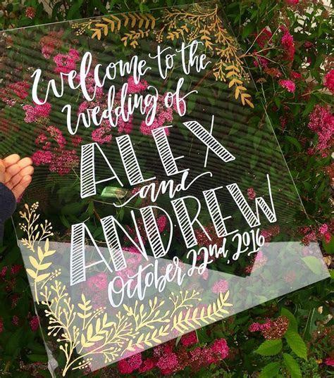 Acrylic Wedding Decor / Acrylic Welcome Sign   $125