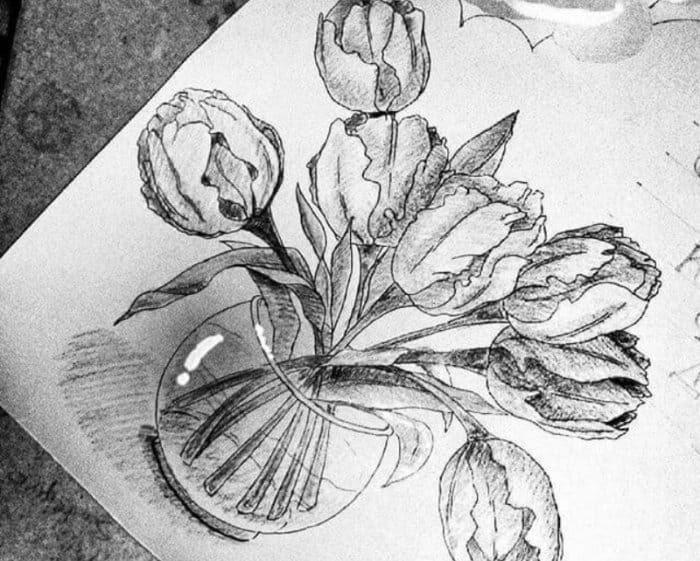 Koleksi Terbaru Cara Menggambar Sketsa Bunga Gambar