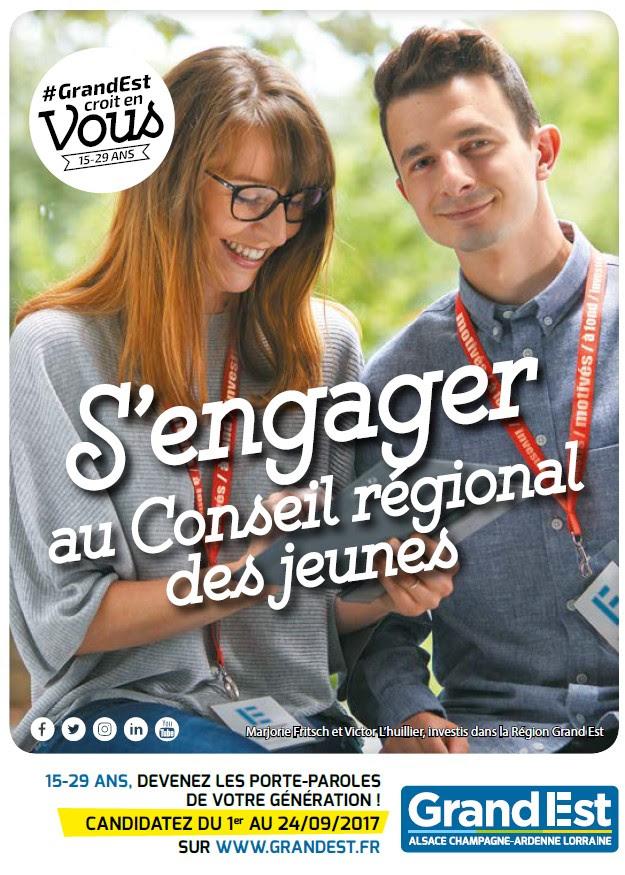 """Campagne """"s'engager au Conseil régional des Jeunes"""""""