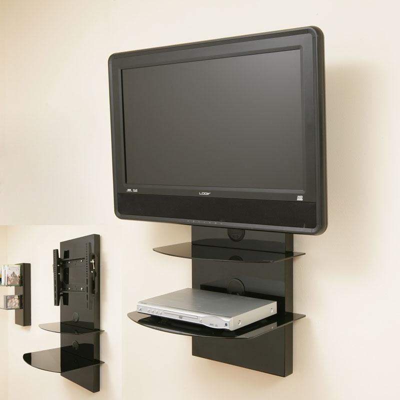 TV Wall Mount Bracket + Shelves TILT VESA LCD up to32   eBay