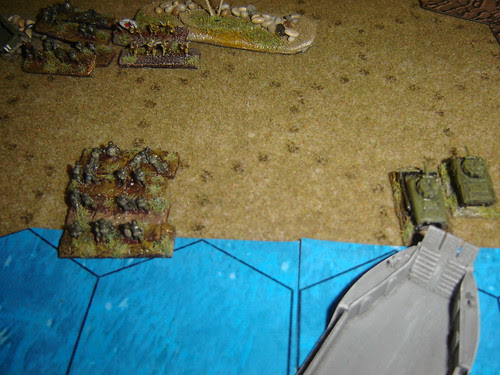 Marines taken ground supported by armour
