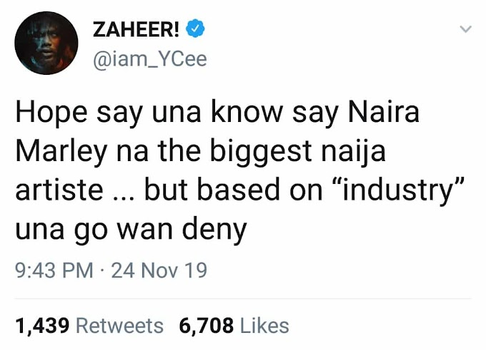"""Naira Marley Is The Biggest Nigerian Artiste""- Singer Ycee"