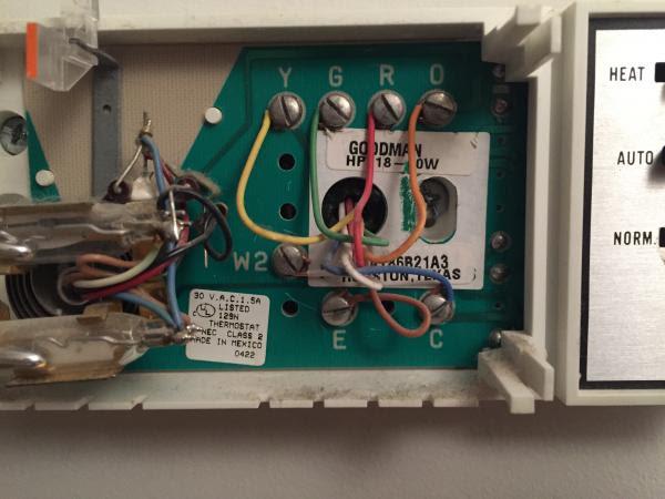 Replacing a Goodman Janitrol HPT 18-60 Thermostat ...
