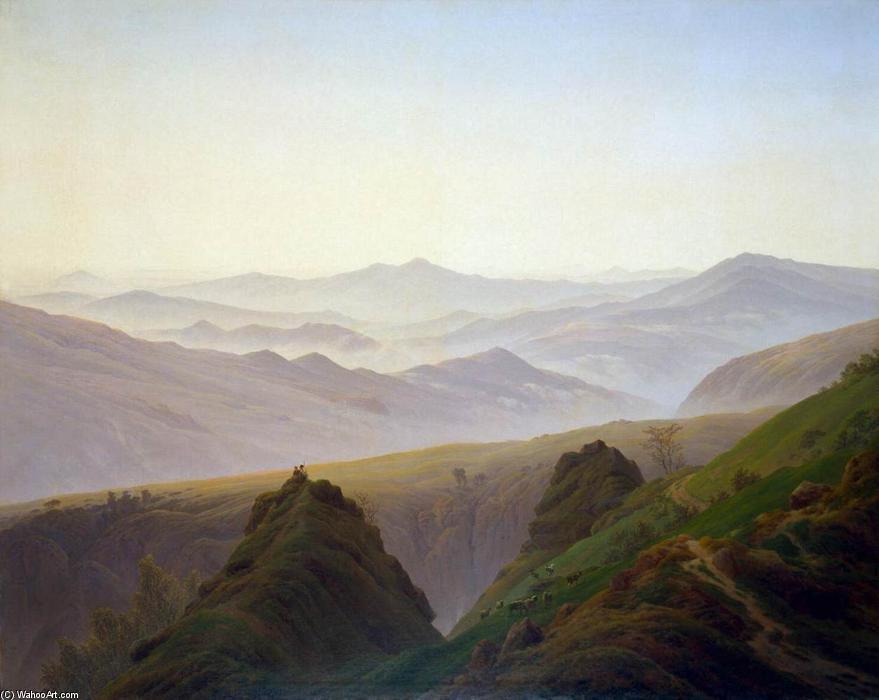 Mañana en las montañas (3), óleo sobre lienzo de Caspar David Friedrich (1774-1840, Germany)
