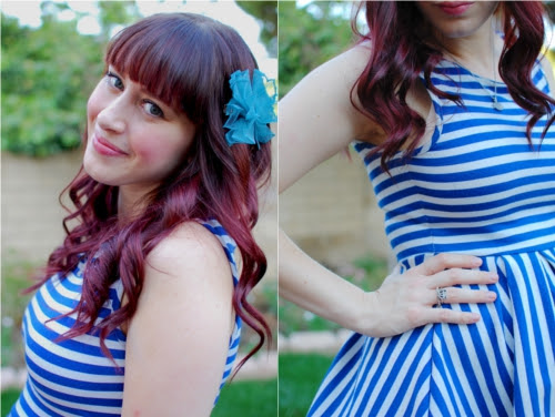 bluestripedress