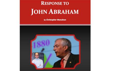 Reponse to John Abraham by Christopher Monckton