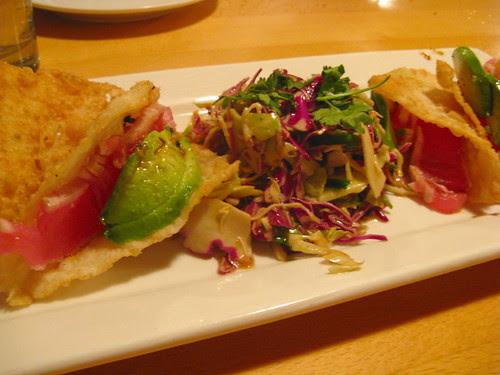 Sashimi Tuna Tacos
