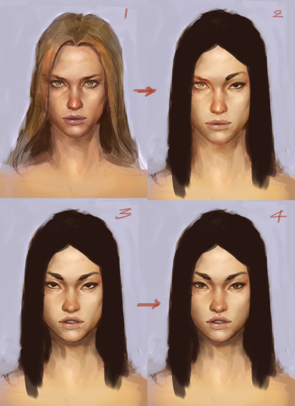 character design asian face tutorial