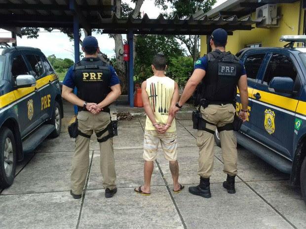 Suspeito de matar coronel reformado da Policial Militar do Rio de Janeiro é preso na Bahia (Foto: Divulgação/PRF)