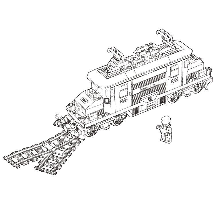 Coloriage A Imprimer Train Lego Gratuit Et Colorier