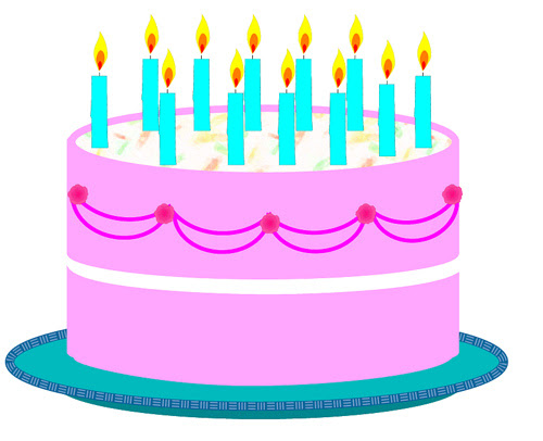 Black And White Big Birthday Cake Birthday Cake Clip Art