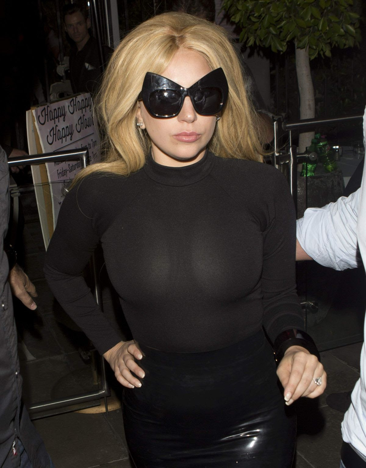 LADY GAGA Leaves Pump Restaurant in West Hollywood