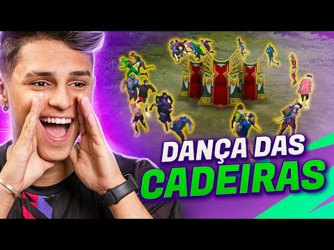 FIZ UMA DANÇA DAS CADEIRAS DENTRO DO FREE FIRE!!