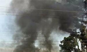 Nansana mob sets vehicle ablaze