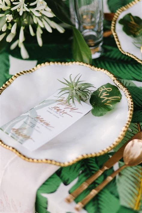 50 Green Tropical Leaves Wedding Ideas ? Page 4 ? Hi Miss Puff