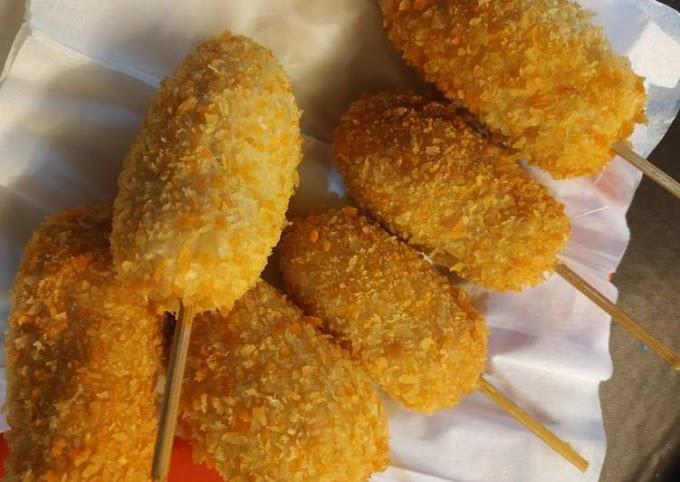 Resep Memasak Corn dog simple Anti Gagal