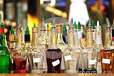 Many Bottles Of Alcohol Royalty Free Stock Photography - Image: 7501087