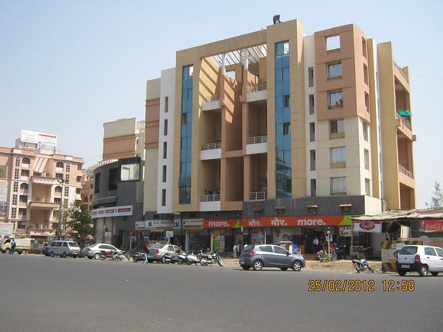 """""""more supermarket"""" at Dwarka, Shivar Chowk, Rahatani Road, Pimple Saudagar, Aundh Annexe 411027 - Visit Suhas Mantri Constructions' Mystica 3 BHK Flats behind Shivar Garden Hotel Rahatani Pune 411017"""