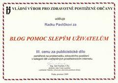 3. cena za blog POSLEPU