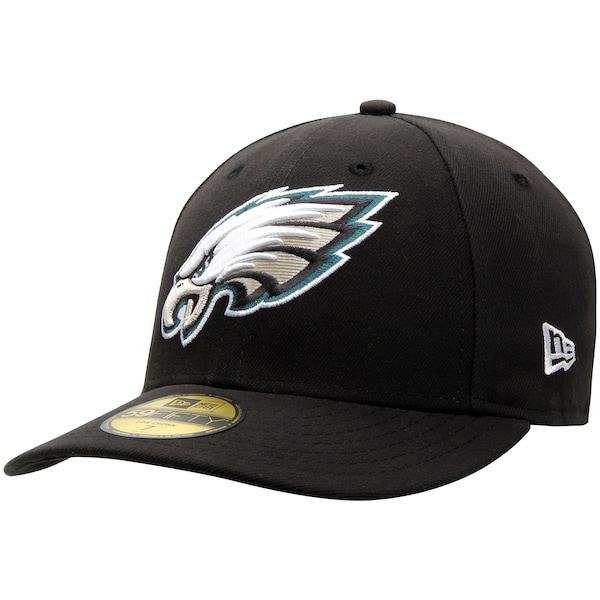Mens Philadelphia Eagles New Era Black OnField Low Crown 59FIFTY Fitted Hat  NFLShop.com