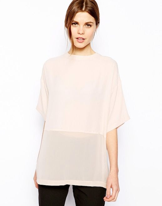 Le Fashion Blog Gimme Gimme Sheer Contrast Blush Top Nude ASOS Sheer and Solid Longline T-Shirt 1 photo Le-Fashion-Blog-Gimme-Gimme-Sheer-Contrast-Blush-Top-1.jpg