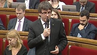 El president Puigdemont a la sessió de control al govern