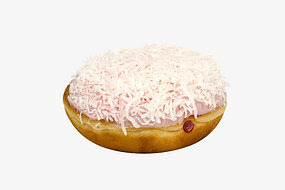 The offending 'Iced Dough-Vo' doughnut