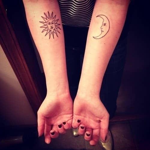 Matching Sun And Moon Tattoos Tattoogridnet