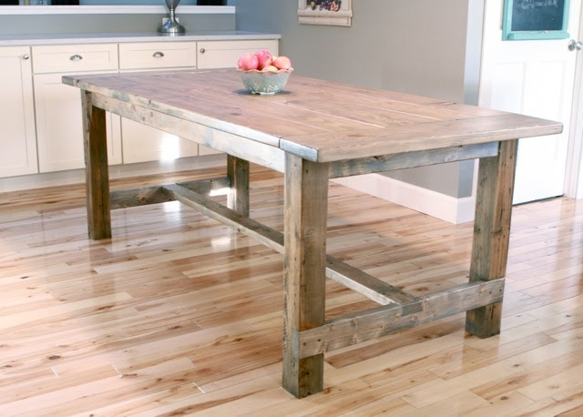 Ana White   Build a Farmhouse Table - Updated Pocket Hole Plans ...