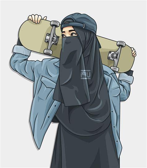 vector hijab niqab skateboard atahmadfu hijab