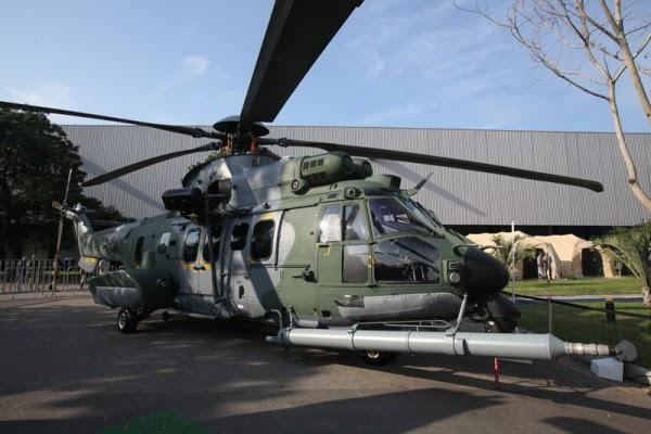 El avión H225M, fabricado en la línea de montaje de la compañía en Itajubá (Minas Gerais), es parte del Programa H-XBR. (Foto: Eny Miranda / foto Cia)