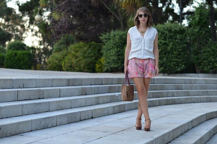 Shorts rosas Zara