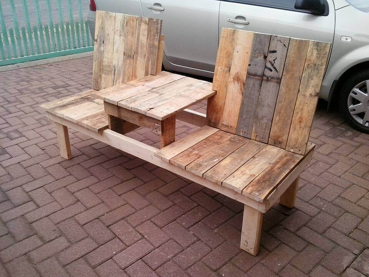 Pallet Double Chair Bench Design | 99 Pallets