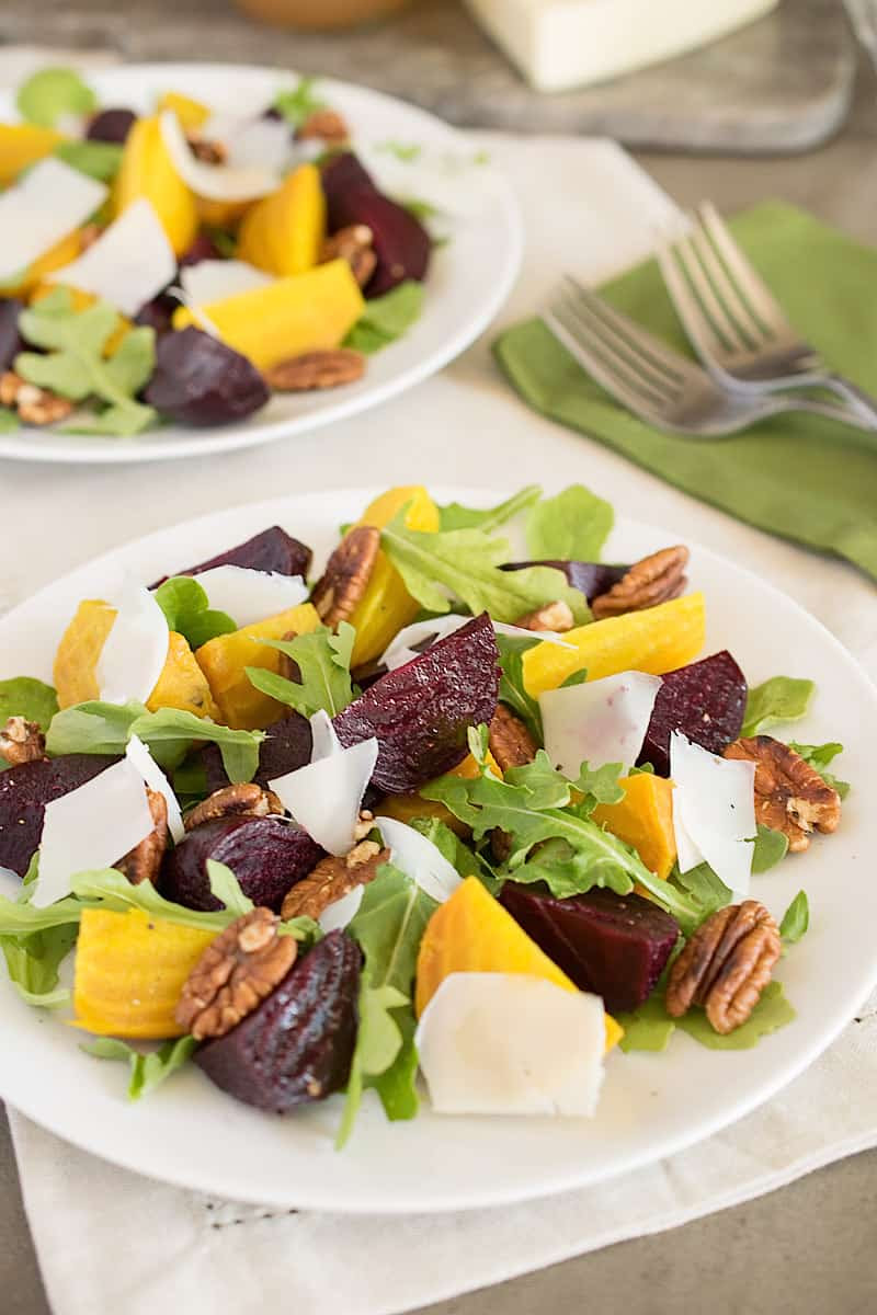 Roasted Beet Salad- 17 Healthy Salads That Don't Taste Like Rabbit Food. serenabakessimplyfromscratch.com