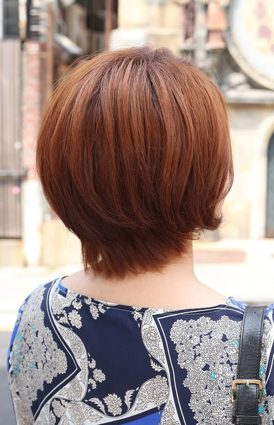 Back  View  of Short Auburn Bob  Hairstyle  Hairstyles  Weekly