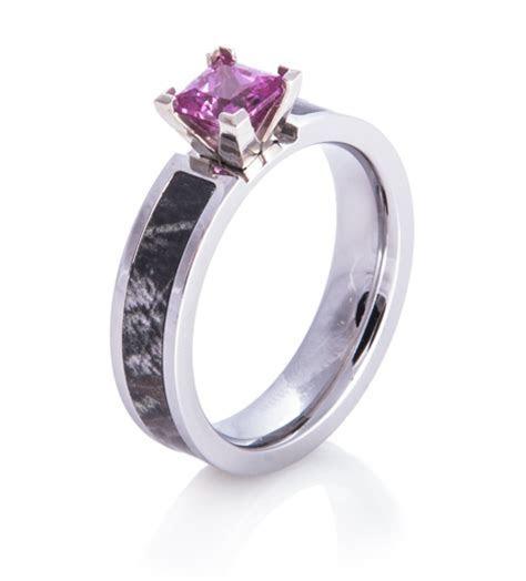 Pink Stone Camo Ring, Women's Outdoor Rings   Titanium