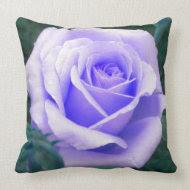 Pale Lavender Rose Throw Pillow throwpillow