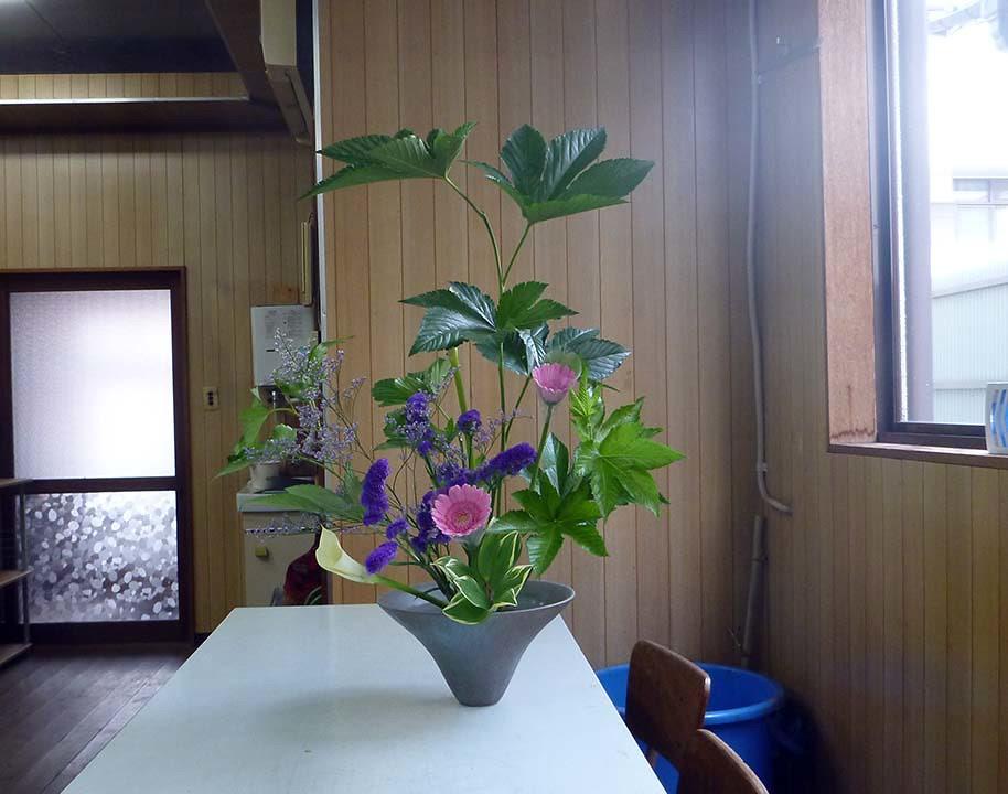 【盛花】キイチゴ、カラー、ガーベラ【2013_07_06】