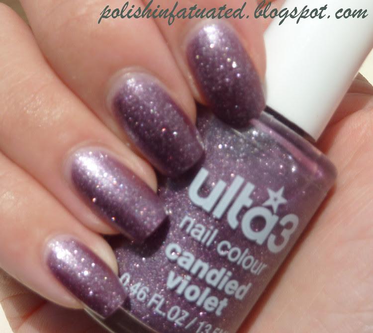 candied violet blurred