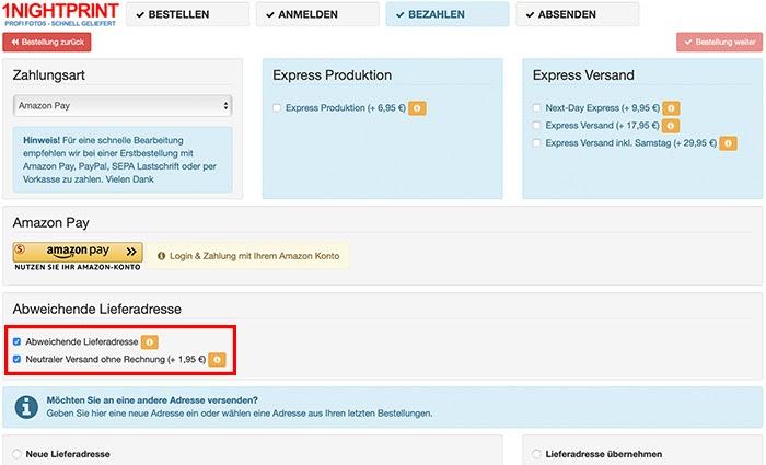 Amazon bestellung auf rechnung