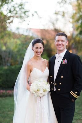 Stunning Military Wedding with Garden Ceremony in